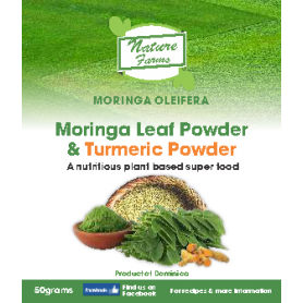 Moringa Leaf Powder and Tumeric Powder - 50g