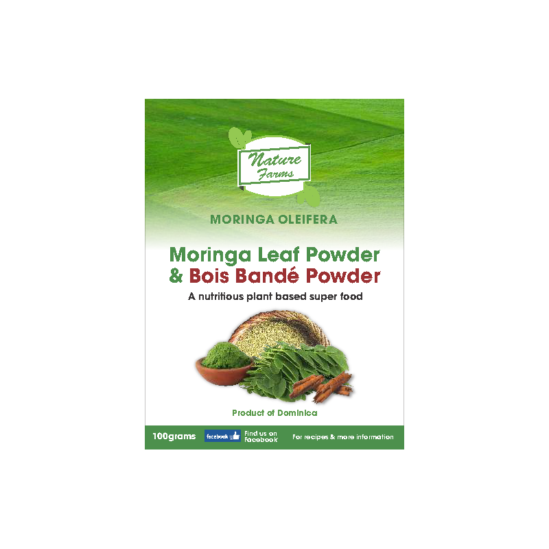 Moringa Leaf Powder and Bois Bandé Powder - 100g