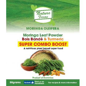 Moringa Leaf Powder, Bois Bandé and Turmeric: SUPER COMBO BOOST - 50g